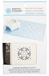 Martha Stewart Crafts All Over The Page Punch, Scallop Snowflake