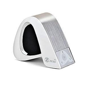 Bocínas Zzero portátiles inalámbricas Bluetooth para despositivos móviles y reproductores de música, blanco