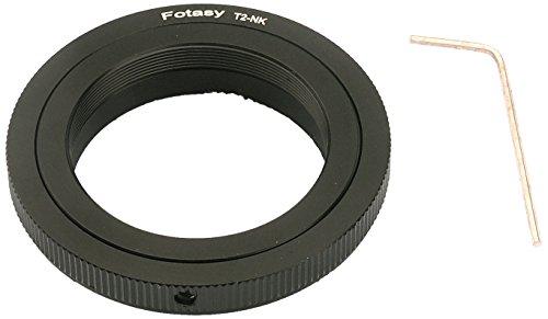 Fotasy Nkt2 T/T2 Mount Lens To Nikon Dslr Camera Adapter (Black)