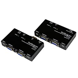 StarTech.com VGA Video Extender over Cat 5 with Audio - Up to 500ft (150m) - VGA over Cat5 Extender - 1 Local and 1 Remote