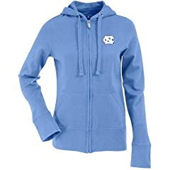 North Carolina Ladies Zip Front Hoody Sweatshirt (Team Color) by Antigua
