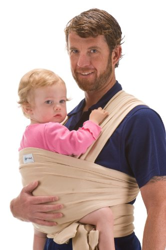 Sleepy Wrap Classic Wrap Baby Carrier, Beige, 0-18 Months back-219549
