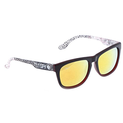 Red Flirt Eyewear Wayfarer Sunglasses (Matt Black\/Red) (Flirt Eyewear_0120) (Multicolor)