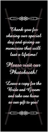 Photo Booth Frame Inserts / Table Reminders Black 2x6 (100 Pack)