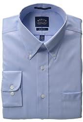 EAGLE Men's Cotton Pinpoint Button Down Collar Non Iron Slim Fit Shirt