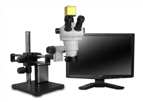 Scienscope Nz Series Hd Trinocular System With Led Light Source And Dual Arm Boom Stand