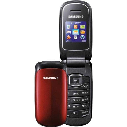 Mobilcom Xtra Pac Samsung E1150 Prepaid Handy rot inkl. 3 Euro Startguthaben