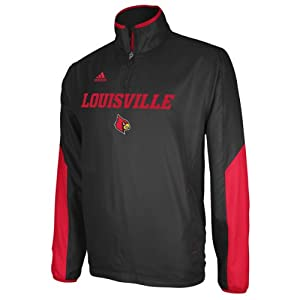 Buy adidas Louisville Cardinals Hot Sideline Jacket - Black by adidas