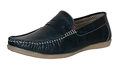 AXONZA Men's 238 Stylish Casual Blue Loafers & Moccasins-10