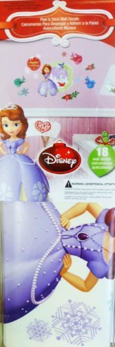 Disney Character Christmas Holiday Peel & Stick Wall Decorations (Sofia the First) - 1