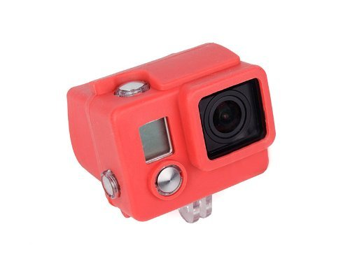 Bluefinger Silicone Case For Gopro Hero 3 Color Red
