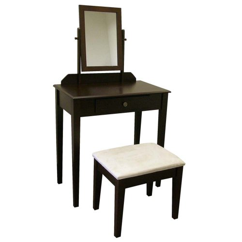 ORE International H206ES Vanity Set, Espresso