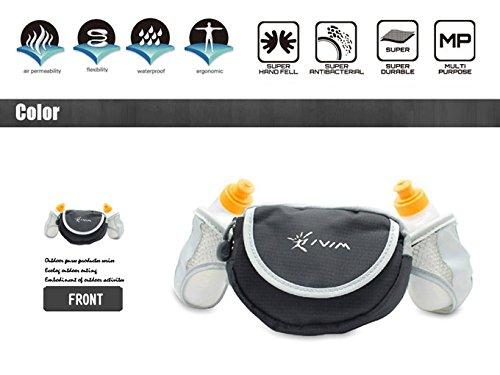 iVim Waistpack Waist Hydration Belt Bag Water Drinks Bottle Pocket Storage for Bike Cycling Hiking Sports Running Jogging-2 bottles