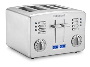 Cuisinart Factory-Reconditioned Countdown Metal 4 Slice Toaster (Silver)