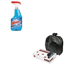 KITDRA90135EAJAGL3339H - Value Kit - Heavy Grade Industrial Strength Can Liners, 33 Gal. Cap., 33 x 39, 200/Carton (JAGL3339H) and Windex Powerized Glass Cleaner with Ammonia-D (DRA90135EA)
