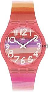 Swatch Astilbe - Reloj Analógico de Cuarzo para Mujer, correa de Plástico color Multicolor de Swatch