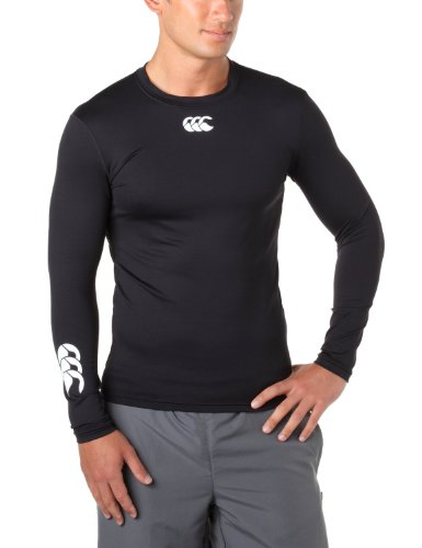 Canterbury Adults Black Cold Base Layer L/S: X-Small