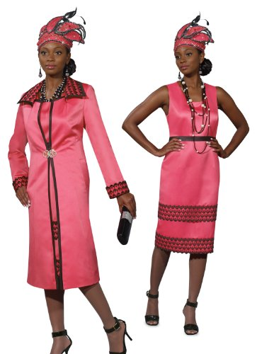 Mother's Day Designer High Fashion Hot Pink Dress and Long Jacket Set 5427