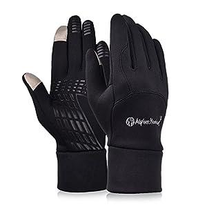 Vbiger Gants de Cyclisme Anti-vent pour Sports Extérieurs pour Ecrans Tactiles (XL, Noir 4)