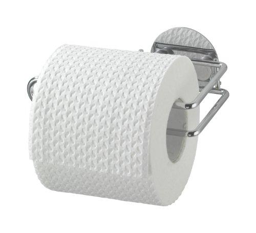 WENKO-18774100-Turbo-Loc-Toilettenpapierrollenhalter-Befestigen-ohne-bohren-Stahl-14-x-6-x-9-cm-Chrom