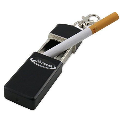 Portable Ashtray, Newness Modern Portable Ashtray, Cigarette Ashtray for Outdoor Use, Ash Holder for Smokers, Pocket Smoking Ash Tray with Lid, Key Chain for Easily Bringing When Travelling (Cool Household Gadgets compare prices)