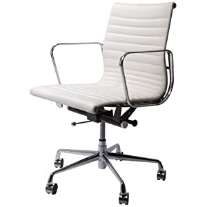 spencer modern mid back leather office chair