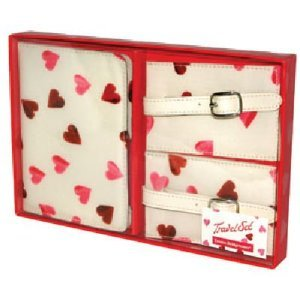 Emma Bridgewater Hearts Passport Cover Luggage Tag Set - Great Gift Idea!