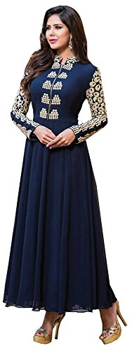 Chariot-Ethics-Womens-Georgette-Semi-Stitched-Salwar-Suit-Set-Sonam-Blue