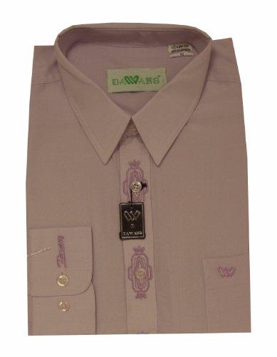 Mens Lilac Purple Long Sleeve Button Cuff Casual Shirt 15.5