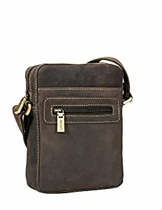 Visconti Hunter Distressed Leather Small Cross Body Bag - 16049