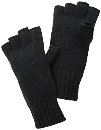 Michael Kors Men's Fingerless Gloves, Black, One Size