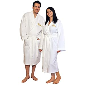 Mr And Mrs Bathrobe, White