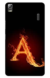 Iessential Initials Designer Printed Back Case Cover For Lenovo K3 Note