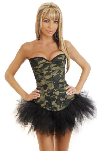 Camo Queen Burlesque Corset & Pettiskirt