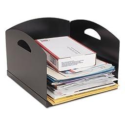Steelmaster 264001H04 Big Stacker Inbox Desk Tray, Single Tier - Black
