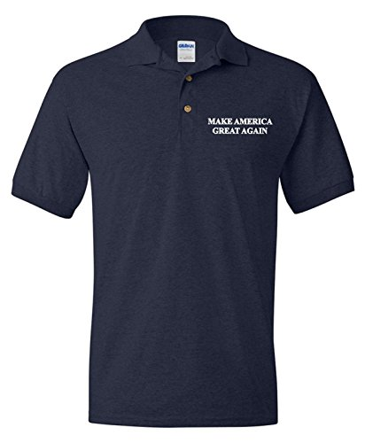 [Make America Great Again Polo T-Shirt Donald Trump 2016 Election GOP Republican] (Bellboy Costumes)