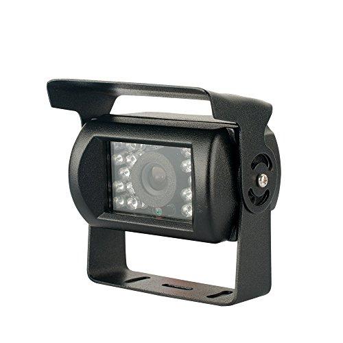 SunroadTek® CCD 18 LED Night Vision Backup Rear view Parking Kit Camera for Car Bus Truck RV Waterproof IR Reversing Camera
