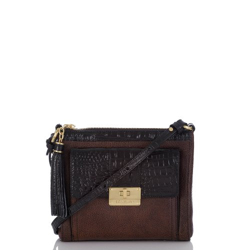 Mimosa Crossbody<br>Smooth Duxbury Dark Brown