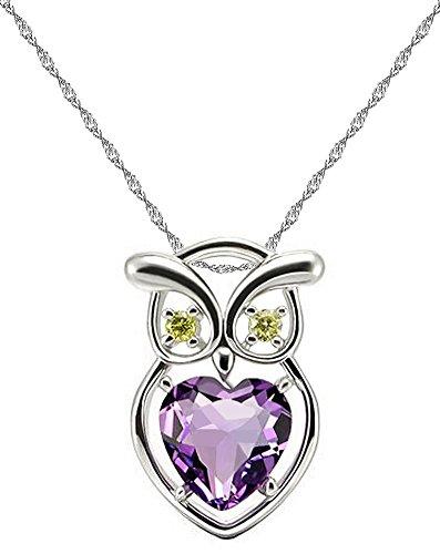 Redmoonjewelry - Catenina in argento sterling 925, con ciondolo a forma di gufo con elementi in cristallo Swarovski, 45 cm