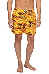 Nuteez Yellow Printed Boxers For Men