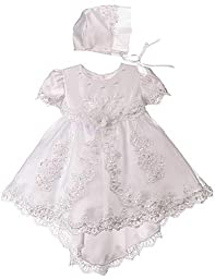 Baby-Girls KID Collection Miniature Bride Gown with Train 0-6M Sm (kid B567)
