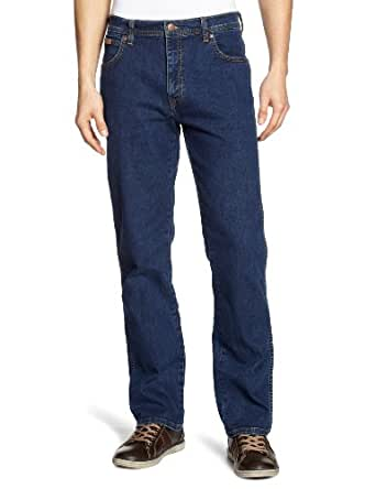 Wrangler Texas - Jeans - Droit - Homme - Bleu (Darkstone) - W30/L32 (Taille fabricant: W30/L32)
