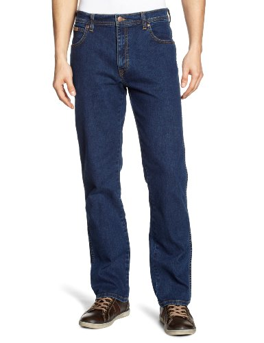 Wrangler Texas Stretch Herren Regular Fit Jeans, Blue (STONEWASH), Gr. W38/L32