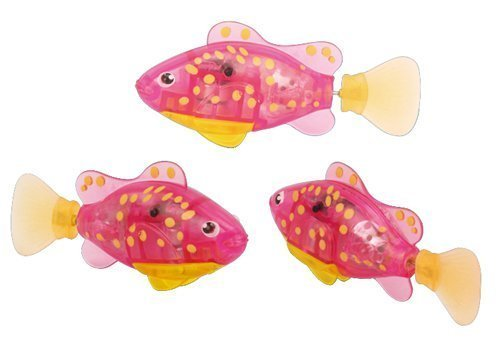 "Bokit Bathtub Toys Fish Electronic 3.3"" Clownfish, Flash Lighting and Mouth Open/Close Pink"