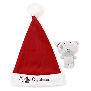 Tiny Tatty Teddy Me To You My 1st Christmas Santa Hat and Soft Toy Baby Rattle