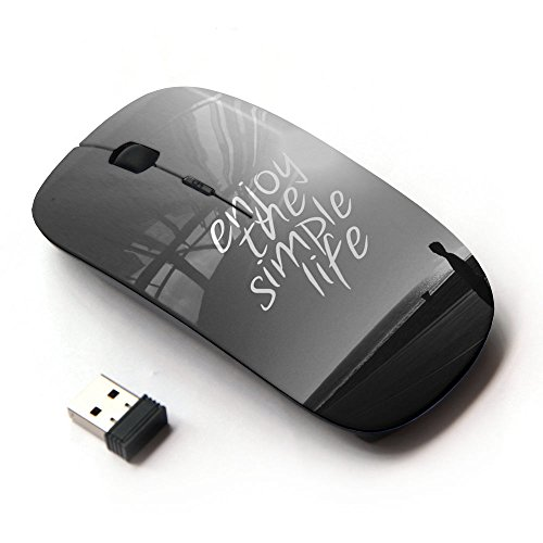 KOOLmouse [ Mouse Senza Fili Ottico 2.4G ] [ Simple Life Enjoy Sun Black White Sunset ]