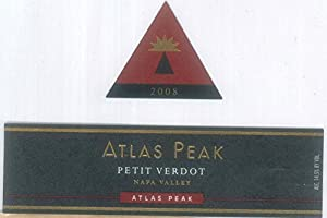 2008 Atlas Peak Petit Verdot Atlas Peak Mtn 750 mL