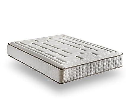 Dessok Visco Luxury Cashmere Confort - Materasso, 27cm di altezza (+/- 2cm) 150 x 190 cm
