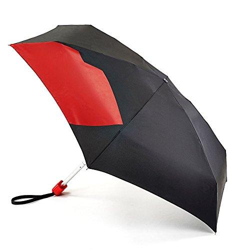 lulu-guinness-abstrait-lip-noir-et-rouge-sac-a-main-taille-petits-parapluie-pliant-assorties-cache