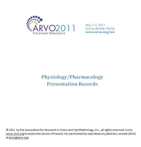 ARVO 2011 Annual Meeting - Section PH